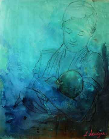 Maternité bleue